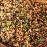 Pressure Cooker Wild Rice and Farro Pilaf
