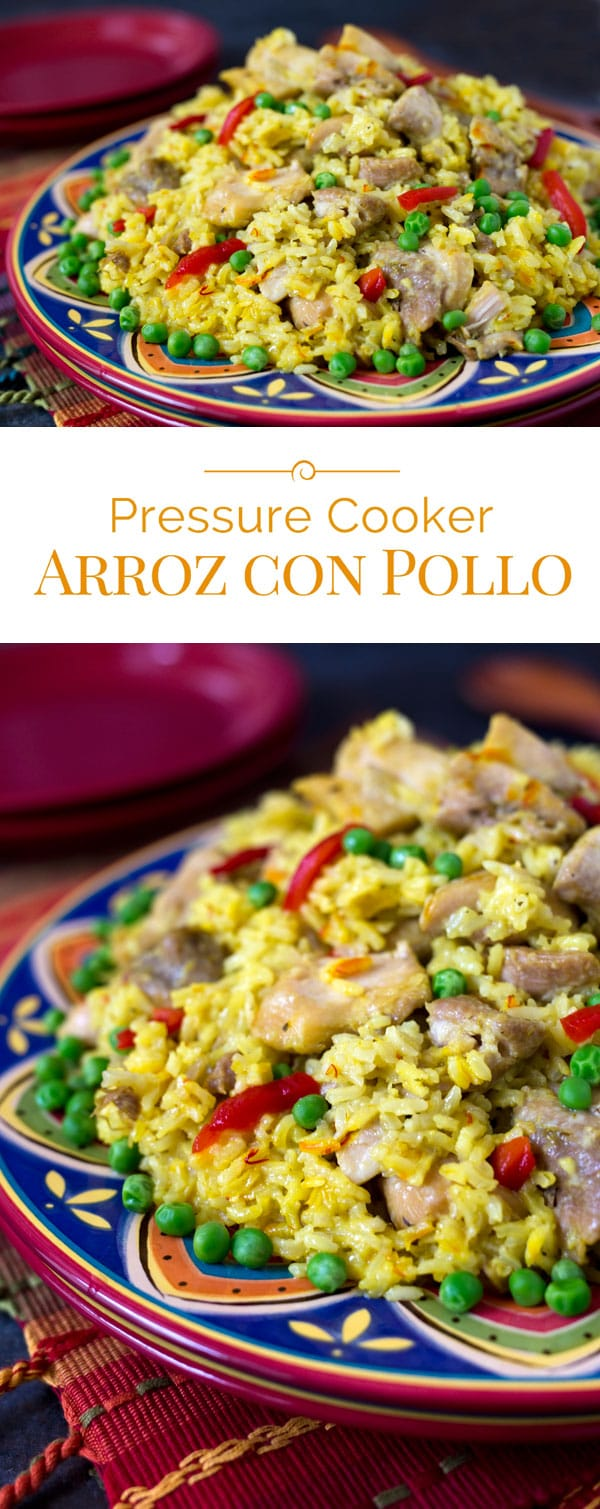 photo collage of Instant Pot Arroz con Pollo