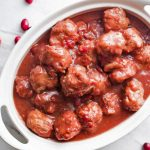 Pressure Cooker Cranberry Balsamic Meatballs