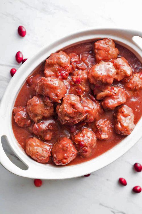 Instant Pot / Pressure cooker Cranberry Balsamic meatballs