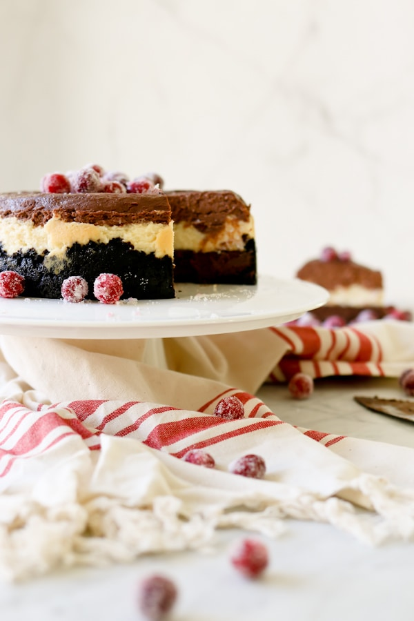 Pressure Cooker Triple Chocolate Layered Cheesecake