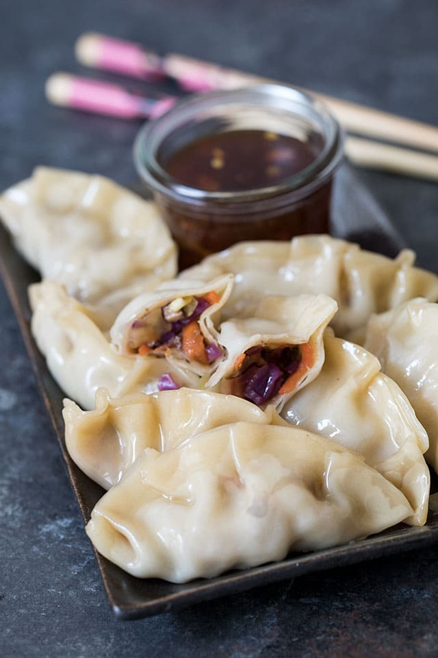 Pressure Cooker Asian Steamed Dumplings / Potstickers