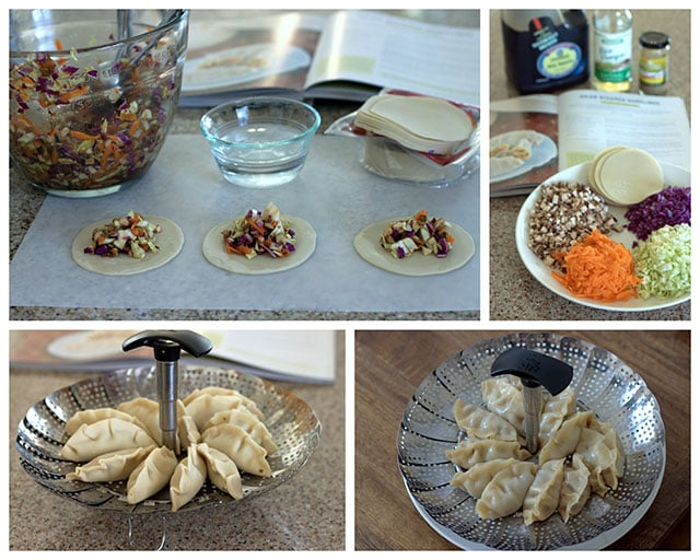 Making Pressure Cooker Potstickers / Pressure Cooker Asian Steamed Dumplings