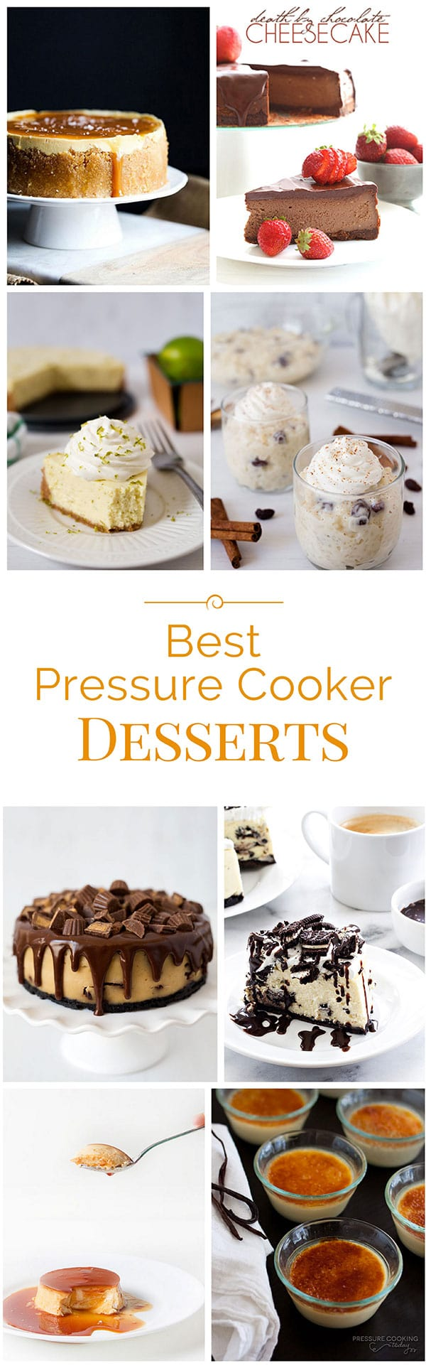 One of my favorite things to make in the pressure cooker is dessert! Today I'm sharing a roundup of some of the best pressure cooker desserts on the web.