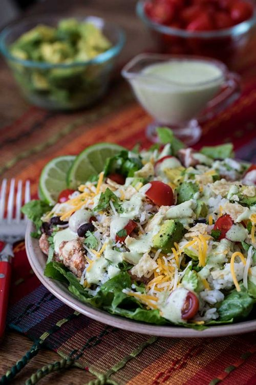 Cilantro Lime Chicken Taco Salad