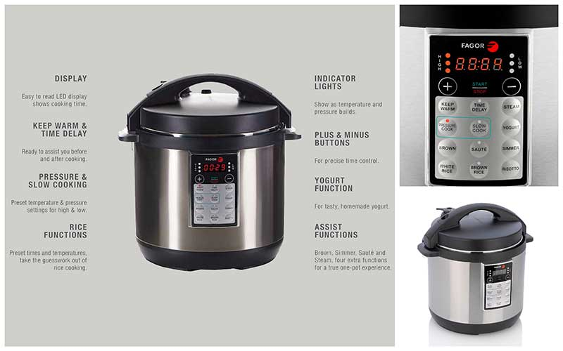 Top Rated Fagor LUX 8 Quart Multi-Cooker Features