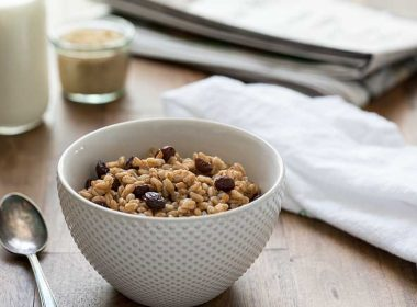Start your day with this Pressure Cooker Brown Sugar Raisin Breakfast Farro and it will keep you satisfied all morning long.