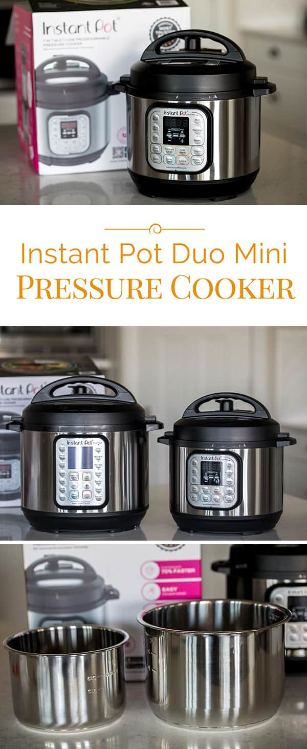 The new 3 quart Which Instant Pot is Right for you? Instant Pot Duo Mini pressure cooker is perfect for small families, college students and to use while you're traveling.