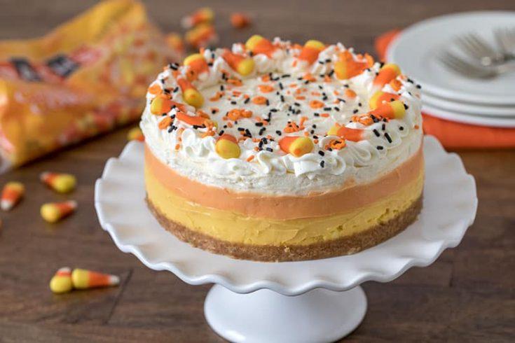 Pressure Cooker Candy Corn Cheesecake