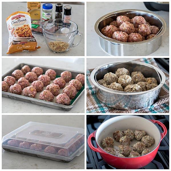 Making Pressure Cooker Turkey Meatballs