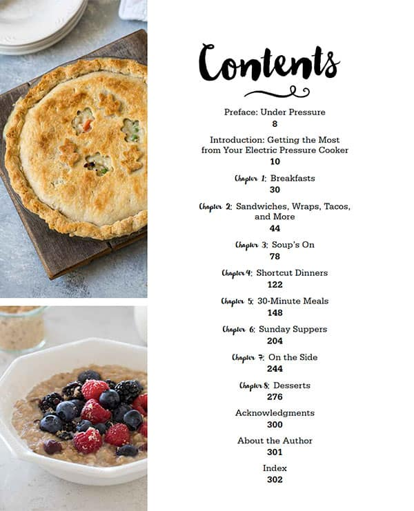 The Electric Pressure Cooker Cookbook Table of Contents