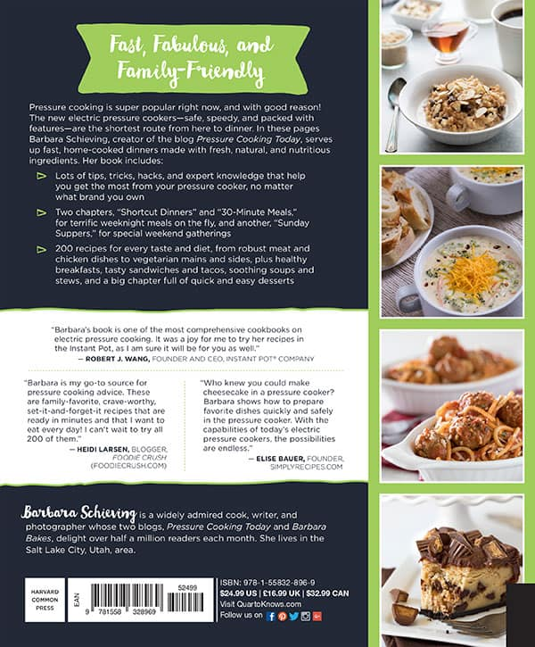 The Electric Pressure Cooker Cookbook - Fast, Fabulous, and Family-Friendly recipes!