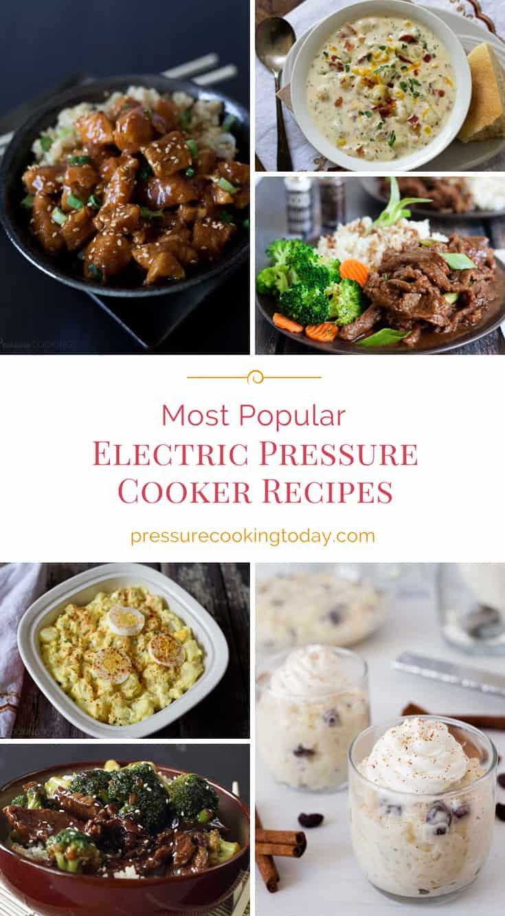 Most popular electric pressure cooker (Instant Pot) recipes