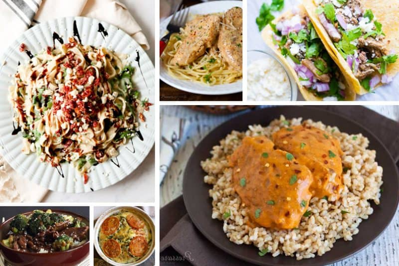 low-carb recipe collage