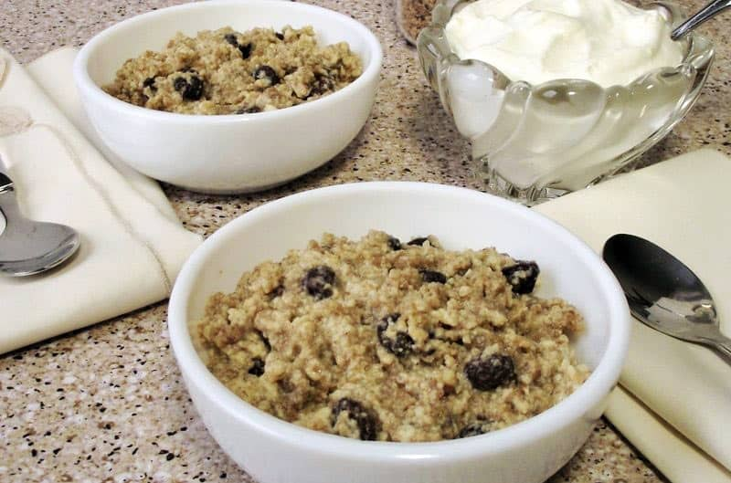 This Grapenut Breakfast Pudding is an old-fashioned recipe made faster and easier in today's electric pressure cookers / Instant Pot.