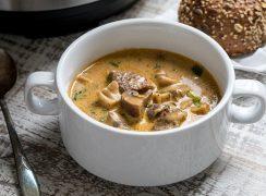 Pressure Cooker Beef and Mushroom Stew