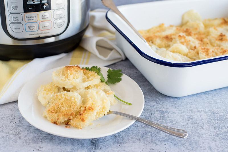 Pressure Cooker Instant Pot Cheesy Potatoes Au Gratin