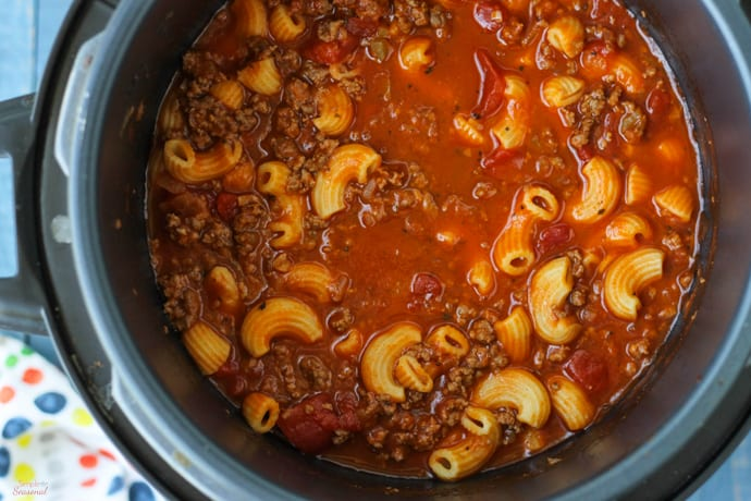 Making American Goulash in your Crockpot Express Pressure Cooker.