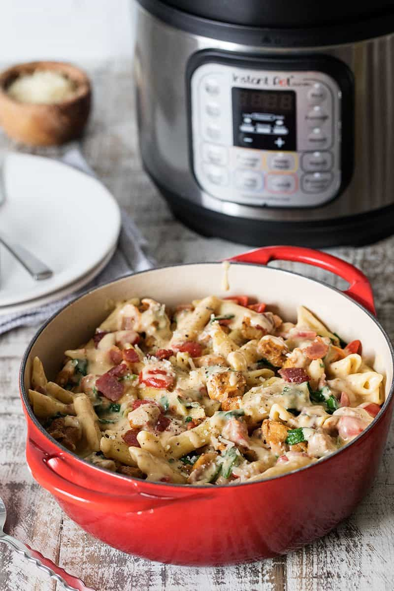 Cooking Pressure Cooker Chicken Bacon Penne Pasta in the Max.