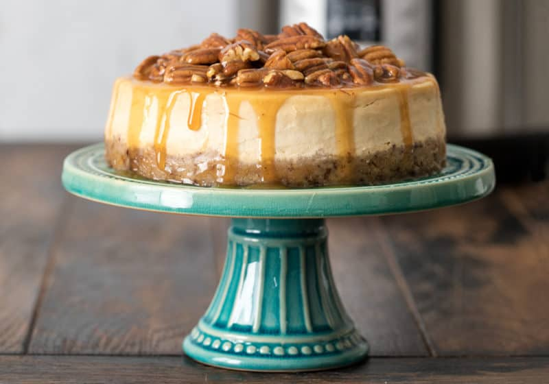 Pressure Cooker Caramel Pecan Cheesecake - Instant Pot Recipe - Pressure Cooking Today