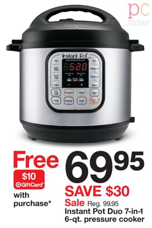 Target Black Friday Instant Pot Duo 6qt Pressure Cooker