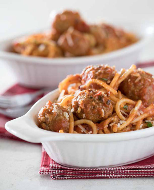 Spaghetti and Meatballs from the Electric Pressure Cooker Cookbook
