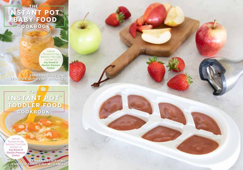 The Instant Pot Baby and Toddler Food Cookbook announcement from Pressure Cooking Today
