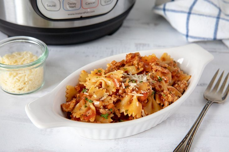 Instant Pot One-Pot Pasta and Meat Sauce