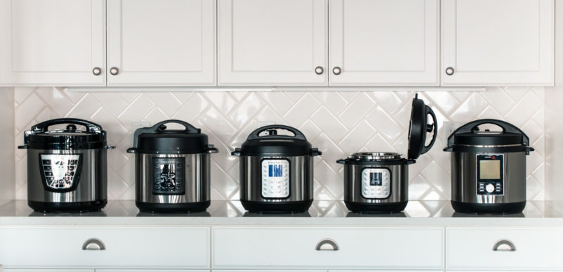 Multiple Makes and Models of Pressure Cookers, Including the Instant Pot