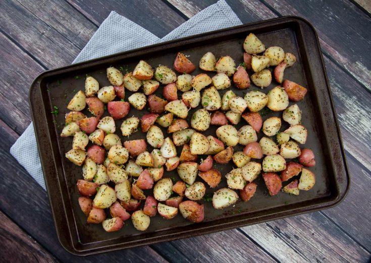 Garlic, Herb & Parmesan Roasted Red Potatoes
