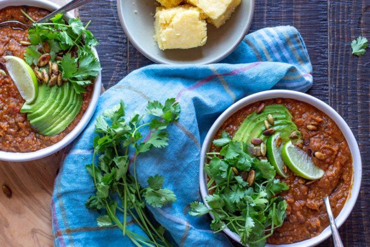 Pumpkin Black Bean Chili for the Instant Pot | Vegan and Gluten-Free