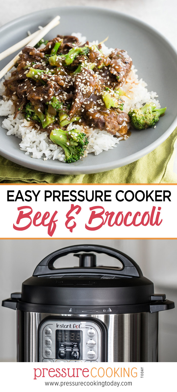 EASY to make and tastes better than take-out! || Instant Pot or Pressure Cooker Beef and Broccoli Recipe via @PressureCook2da