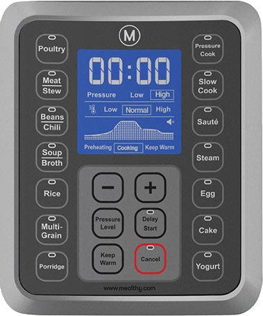Control Panel for the MultiPot Pressure Cooker by Mealthy