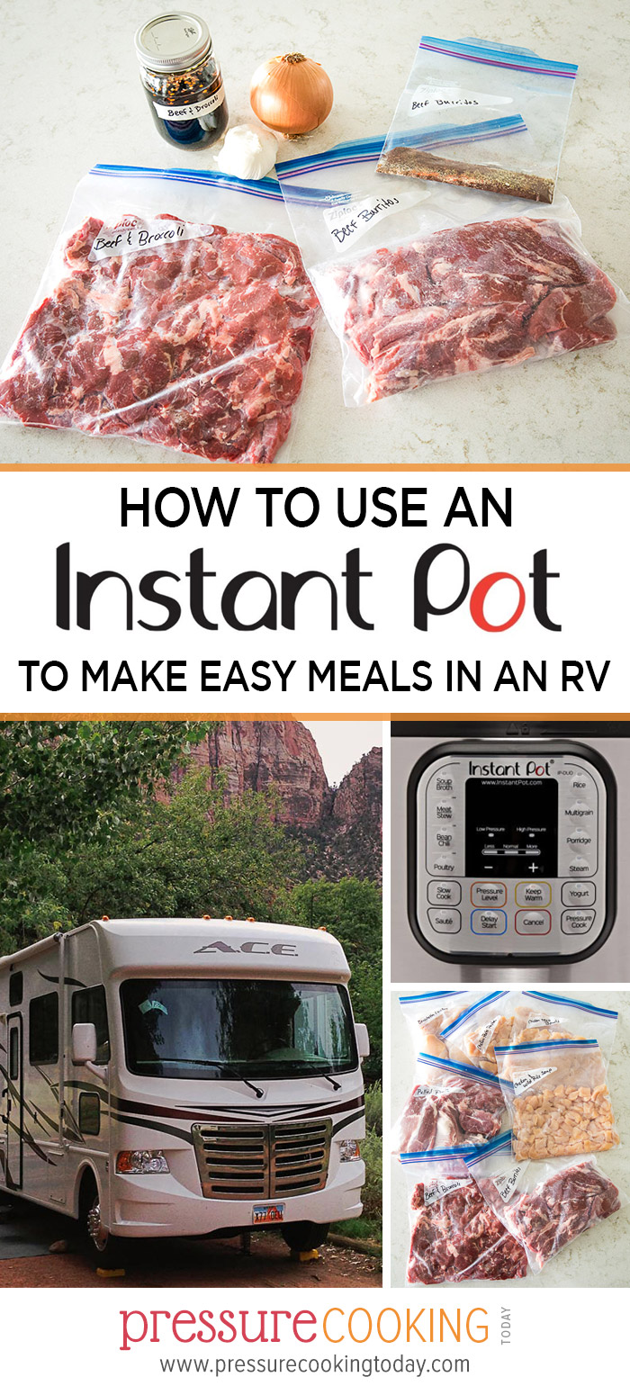 EVERYTHING you need to know about how to use an Instant Pot in your RV. Plus, get a FREE download of my 7-day Instant Pot RV menu and shopping list