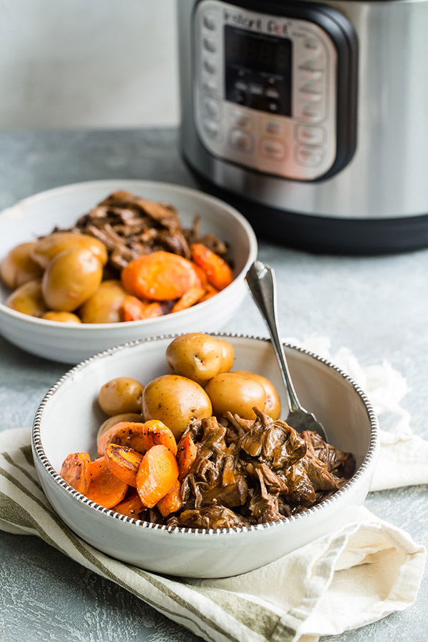Make Old-Fashioned Pot Roast in the Instant Pot or other brand of electric pressure cooker
