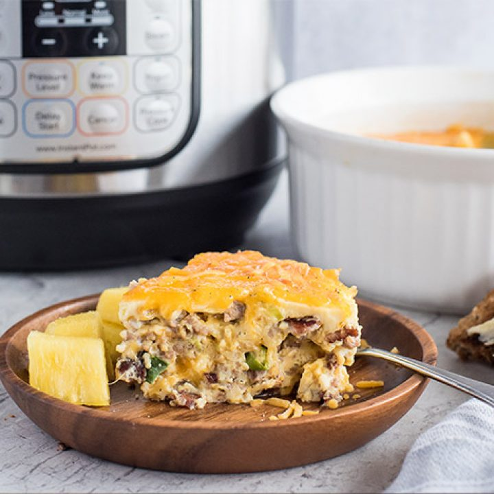 Pressure Cooker Crustless Meat Lovers Quiche