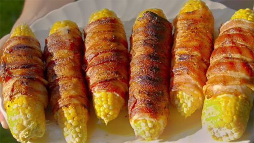 bacon-wrapped pressure cooker corn on the cob