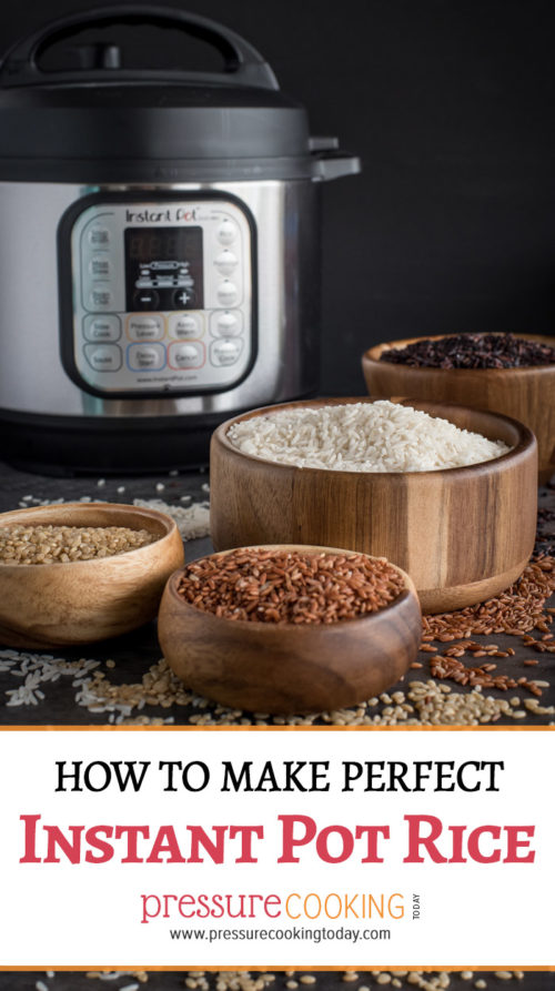 Pinterest Image for How to Make Perfect Pressure Cooker / Instant Pot Rice