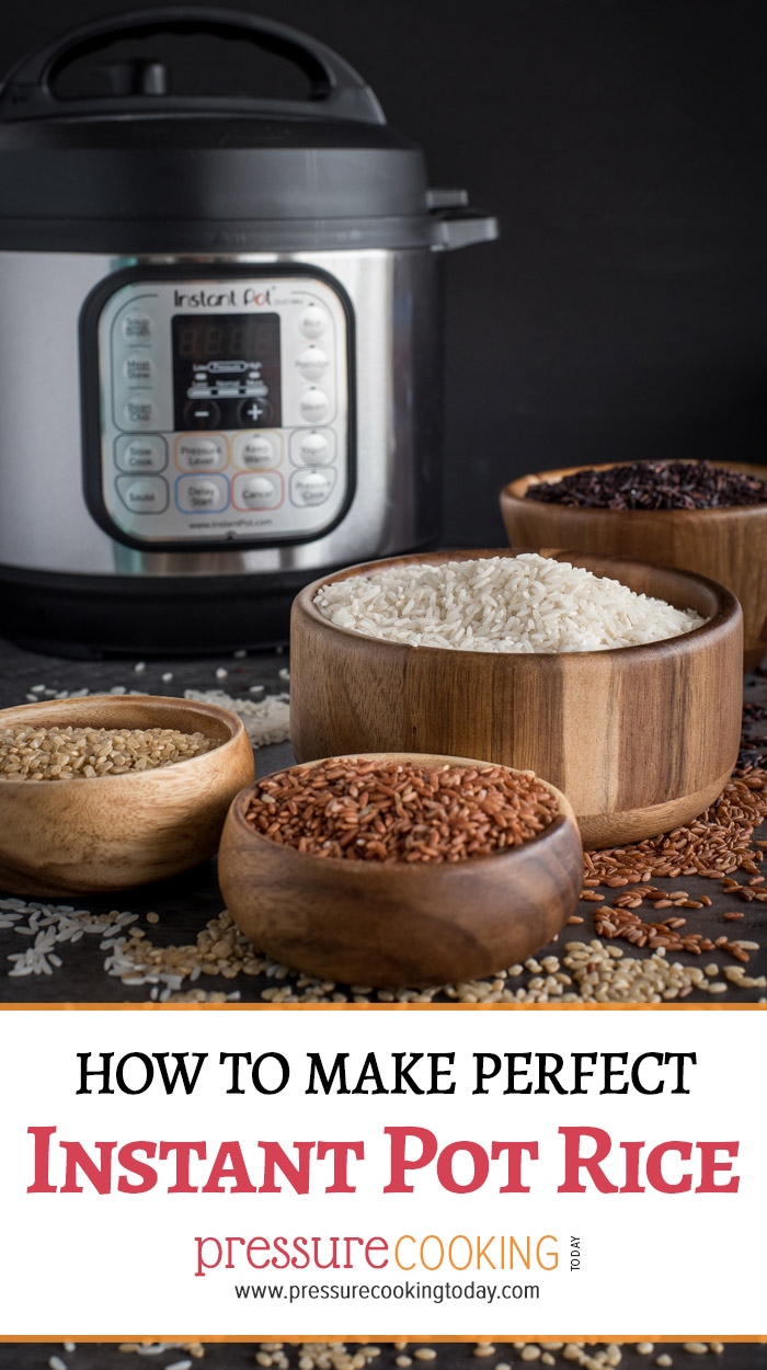 Pinterest Image for How to Make Perfect Pressure Cooker / Instant Pot Rice via @PressureCook2da