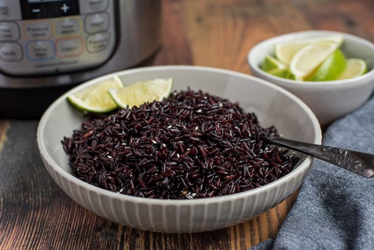Pressure Cooker Forbidden Black Rice