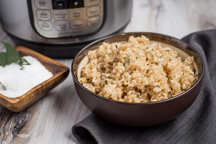 Pressure Cooker Brown Rice