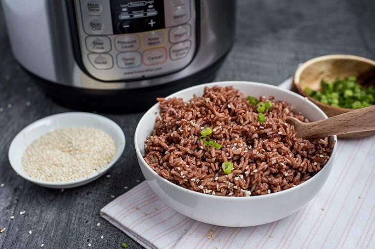 Pressure Cooker Pink Rice