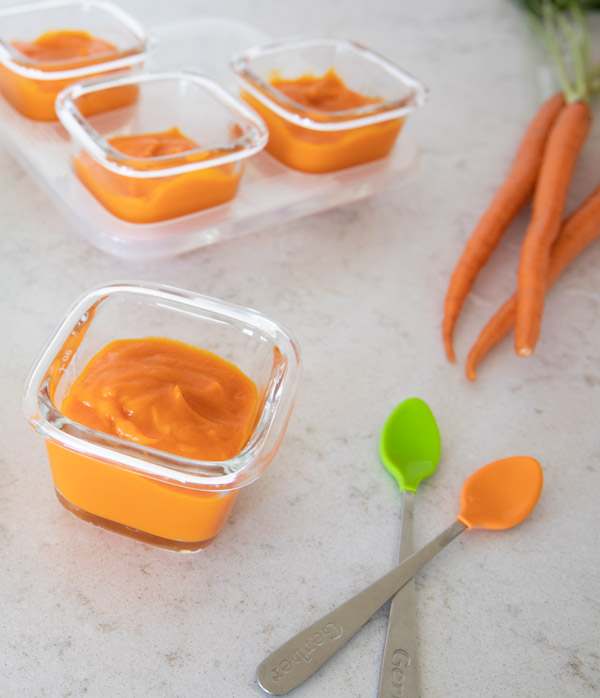 Instant Pot Carrot Puree Baby Food from the Instant Pot Baby Food & Toddler Food Cookbook