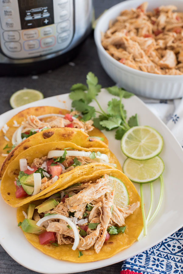 Instant Pot Chicken Taco Filling