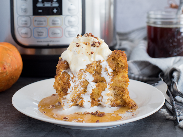 Pressure Cooker / Instant Pot Pumpkin Spice Baked French Toast