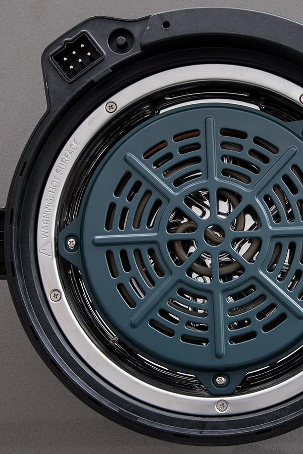 Bottom of the Instant Pot Duo Crisp air fryer lid.