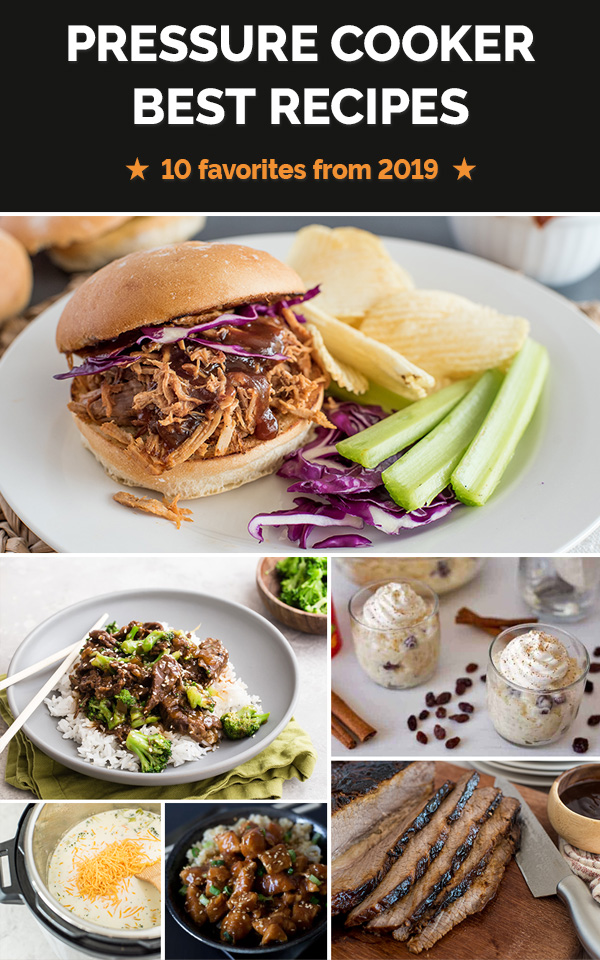 Check out the most popular electric pressure cooker recipes from 2019, including old favorites and new recipes!