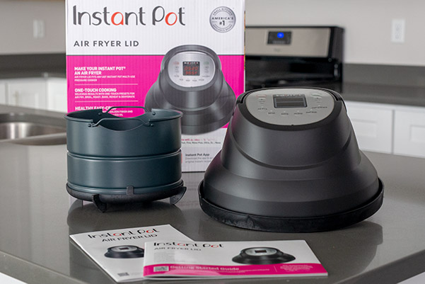Air Fryer Lid Instant Pot attachment and air fryer basket and user guides