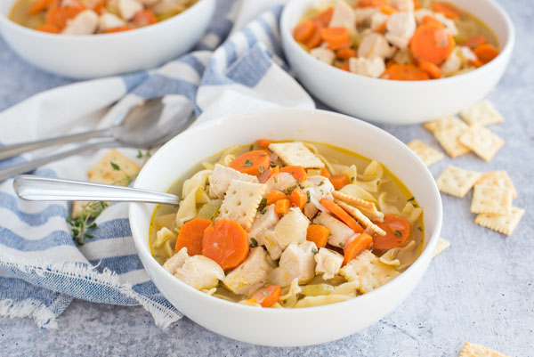 Instant Pot / Pressure Cooker Chicken Noodle Soup