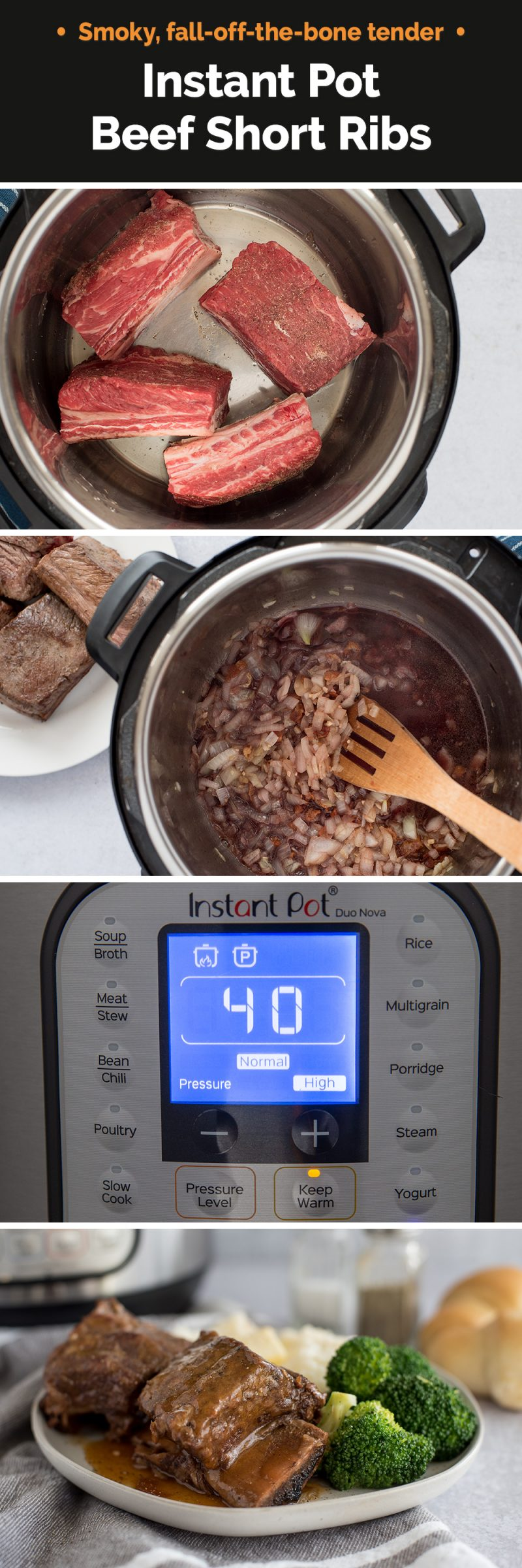 Instant Pot Short Ribs made quick and easy!